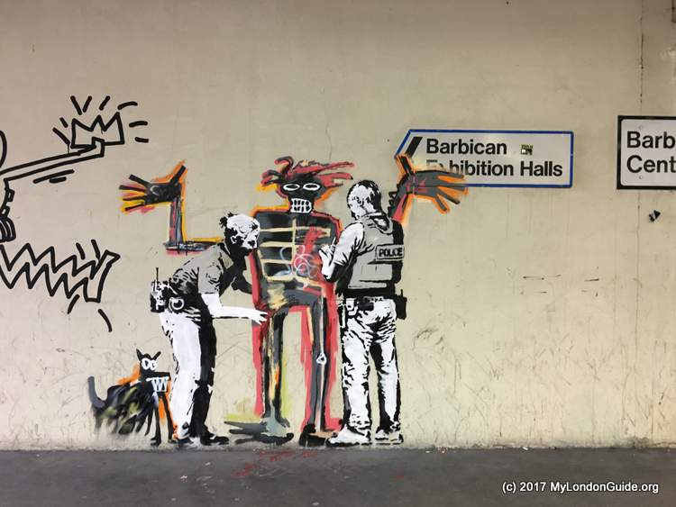 Barbican Centre Banksy Art for Basquiat