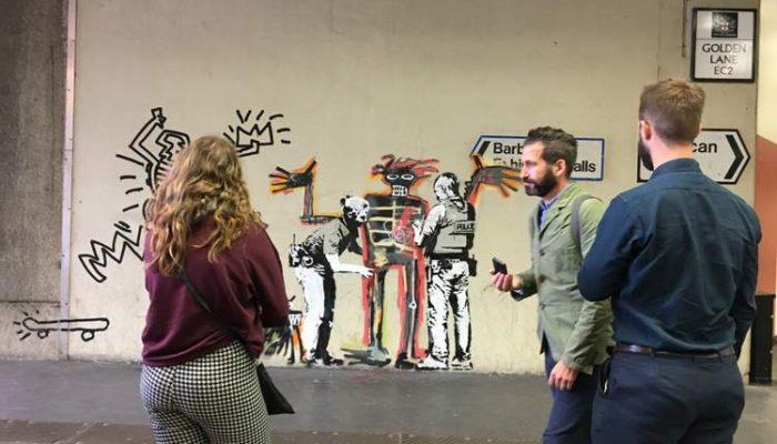 Barbican Centre Banksy Art for Basquiat
