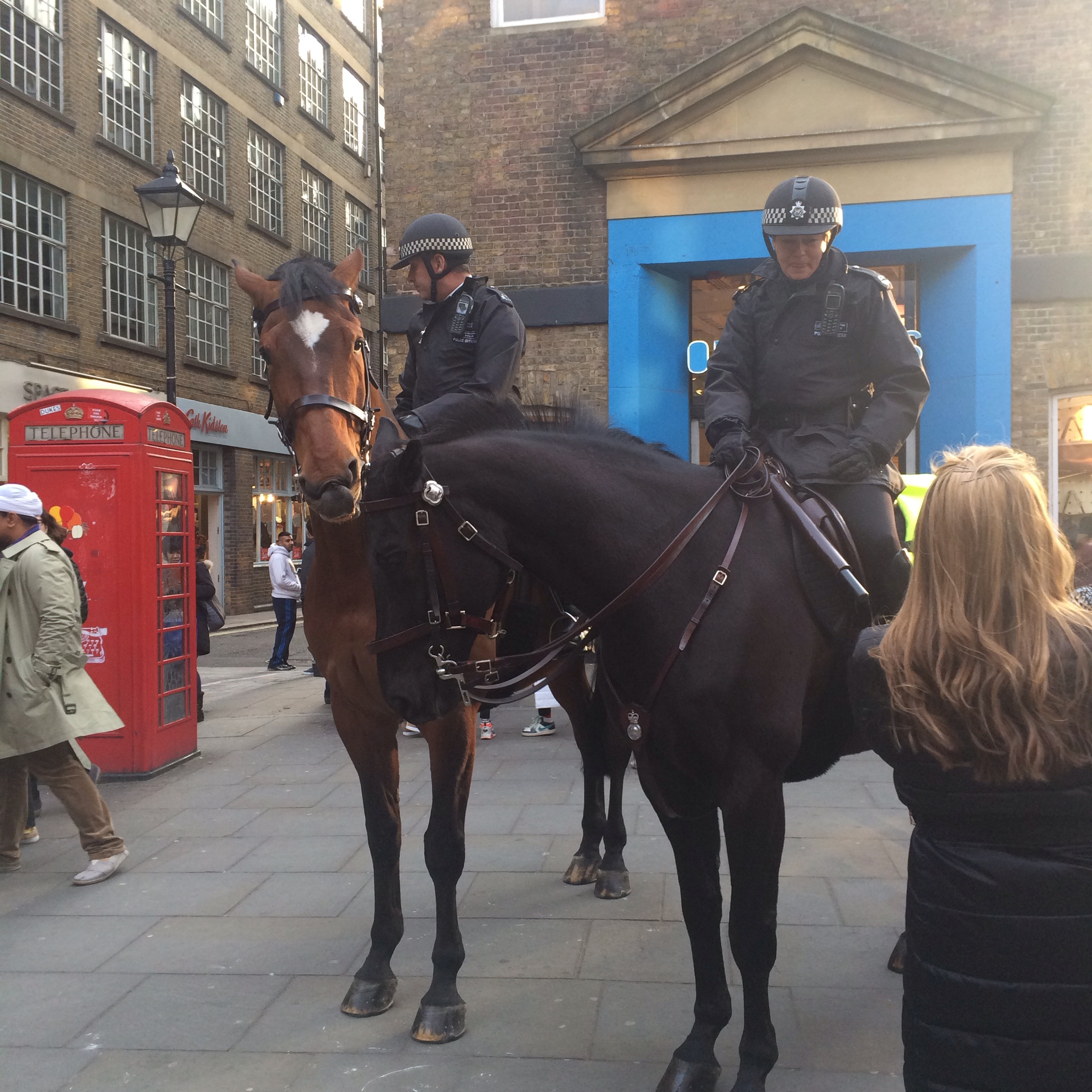 Mounted Police in Covent Garden